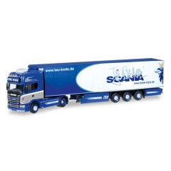 "* Herpa Trucks 306010  Scania R 2013 TL refrigerated semitrailer ""Jens Bode"""