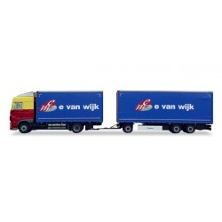 "* Tekno 80468992  DAF XF 105 Euro 6 curtain canvas trailer ""E. v. Wijk"""