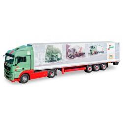 "* Tekno 80467446  MAN TGX XLX Euro 6 box semitrailer ""Wandt 75 jaar"""