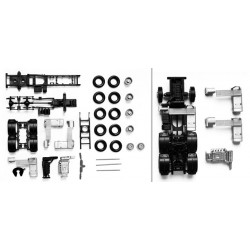 * Herpa Spare Parts 083539  chassis for tractor MAN TGX/TGS 3-axle Content: 2 pcs
