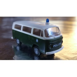 Brekina 33083 VW T2 Green/White Polizei / Police Bus