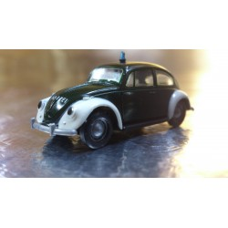 Brekina 25200 VW Beetle Green / White (Police) Polizei Vehicle