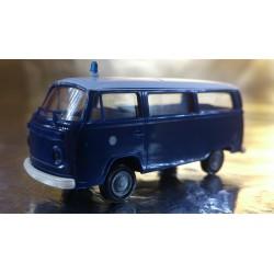 Brekina 33084 VW T2 Blue / White Polizei (Police) Bus