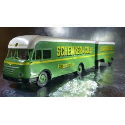 Brekina 57800 Schenker & Co Lorry and Trailer