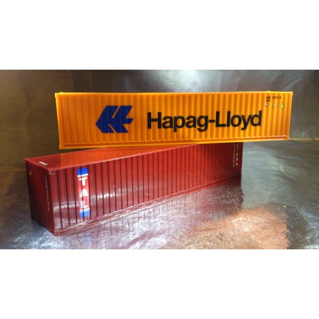 "* Herpa Accessories 076449-002  Container-Set 2x40 ft. ""Hapag Lloyd / TAL"""