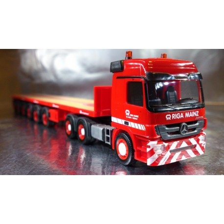 "* Herpa Trucks 305150  Mercedes-Benz Actros L ballast trailer ""Riga Mainz"""