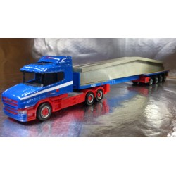 "* Herpa Trucks 156714  Scania conventional teletrailer semitrailer with concrete beam ""Riwatrans"""