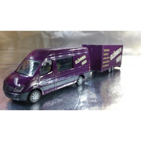 "* Herpa Cars 047562  Mercedes-Benz Sprinter with trailer ""mulled wine"""