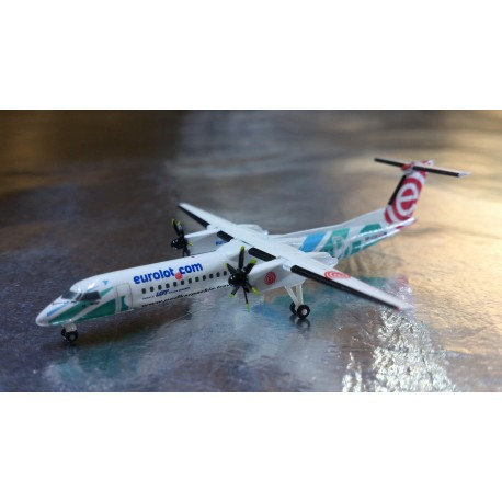 "Herpa Wings 527088  Eurolot Bombardier Q400 ""Podkarpackie Travel"""
