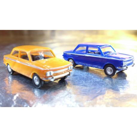 * Herpa Cars (Magic)  451604 NSU TT 2 Car Pack 1 Orange and 1 Blue Car