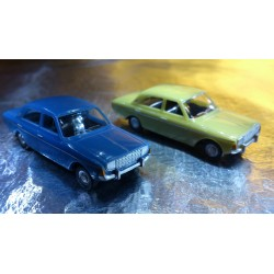 * Herpa Cars (Magic) 451550 Ford Taunus P5 2 Car Pack Pale Green / Blue