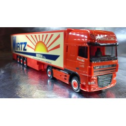 "* Herpa Trucks 154727  DAF XF 105 SSC refrigerated box semitrailer ""Wirth Iberia"""