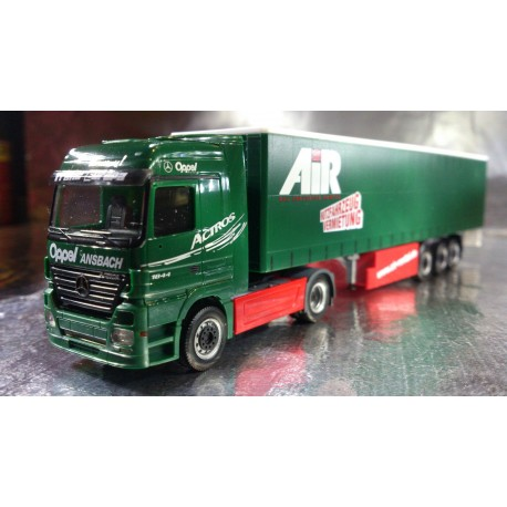 "* Herpa Trucks 153348  Mercedes-Benz Actros LH curtain canvas semitrailer ""Oppel/Air"""