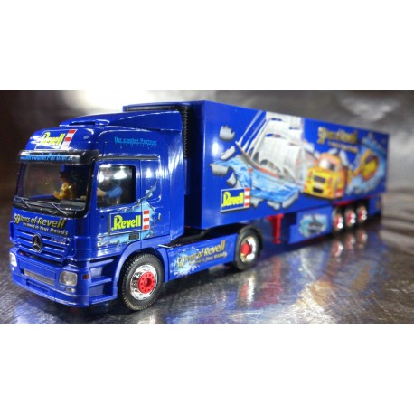 "* Herpa Trucks 120883  Mercedes-Benz Actros L 02 refrigerated box semitrailer ""50th anniversary of Revell"""