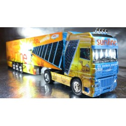 "* Herpa Trucks 120975  DAF XF SSC box semitrailer ""sunline"", PC Box"