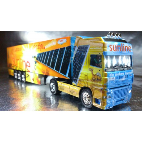 "* Herpa Trucks 120975  DAF XF SSC box semitrailer ""sunline"", PC Box"