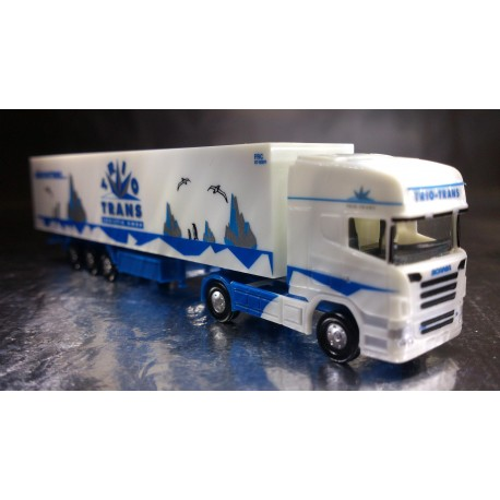 "* Herpa Trucks 065719  Scanie R TL box semitrailer ""Trio-Trans"""