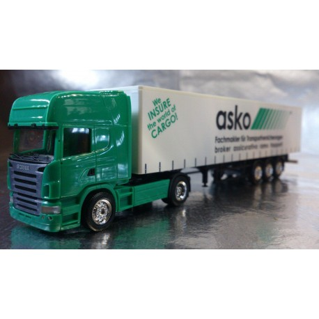 "* Herpa Trucks 275897  Scania R TL curtain canvas semitrailer ""asko"""
