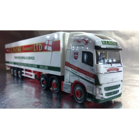 "* Herpa Trucks 306164  Volvo FH Gl. XL 6x2 refrigerated box trailer ""H.E.Payne"" (GB)"