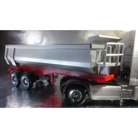* Herpa Trucks 076036-002  Carnehl dump trailer 2-axle, red