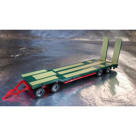 * Herpa Trucks 076142-005  Goldhofer TU 4 construction site trailer, green
