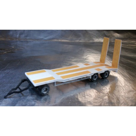 * Herpa Trucks 076135-004  Goldhofer TU 3 construction site trailer, white