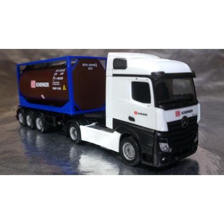 "* Herpa Trucks 306911  Mercedes-Benz Actros Streamspace 2.5 tank container semitrailer ""DB Schenker"""