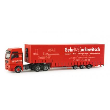 """* Herpa Trucks 155595  MAN TGA XXL bulk volume semitrailer """"Makewitsch"""""""