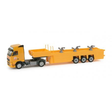 """* Herpa Trucks 155700  Volvo FH GL cement-part transporter Langendorf """"Max Boegl"""""""