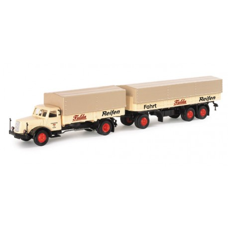 "* Herpa Trucks 152792  Henschel HS 140 canvas cover trailer ""Fulda"""