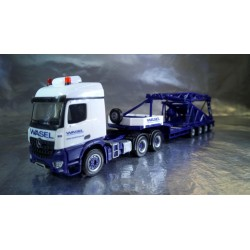 "* Herpa Trucks 307253  Mercedes-Benz Arocs low boy semitrailer with boom foot for Liebherr LR 1600/2 ""Wasel"""