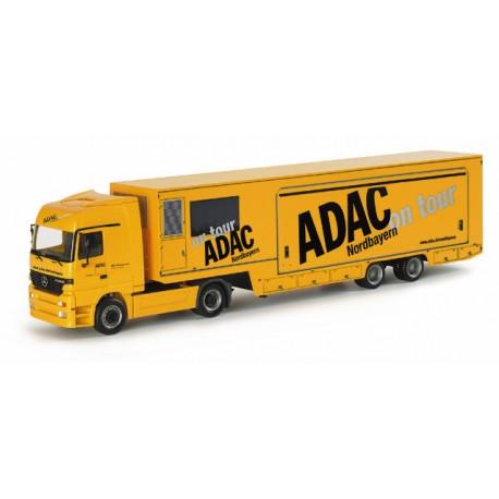 """* Herpa Trucks 153263  Mercedes-Benz Actros LH box semitrailer """"ADAC Nordbayern"""""""
