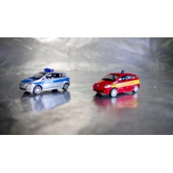 """* Herpa Cars 066549  (Pack of two) Mercedes-Benz B-Klasse """"Police / fire department"""""""