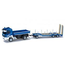 "* Herpa Trucks 090216  Mercedes-Benz Actros M dump truck with Goldhofer TU3 ""THW Clausthal-Zellerfeld"""