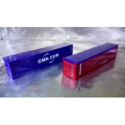 """* Herpa Accessories 076449-004  Container-Set 2x40 ft. """"Triton / CMA/CGM"""""""