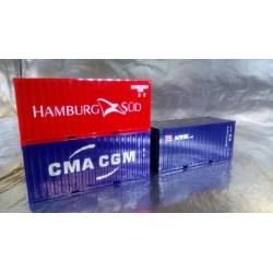 "* Herpa Accessories 076432-002  Container-Set 3x20 ft. ""NYK / CMA/CGM / Hamburg Süd"""