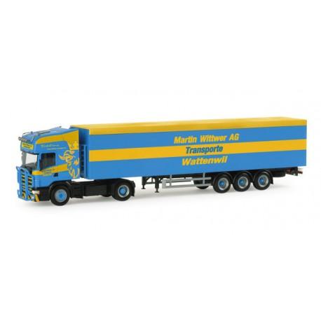 "* Herpa Trucks 155472  Scania 4er TL walking floor semitrailer ""Wittwer Wattenwil"" (Switzerland)"