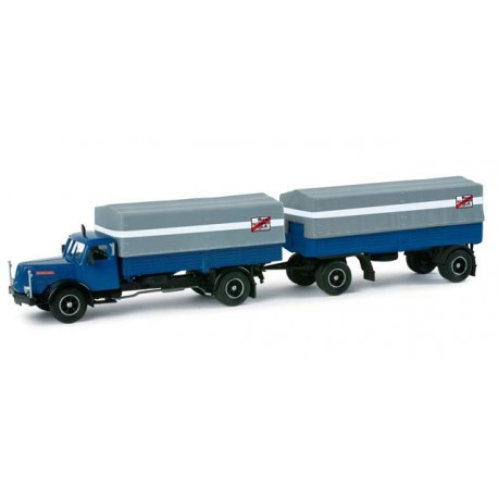 "* Herpa Trucks 157186  Henschel HS 140 canvas trailer ""Fern Schnell Gut"""