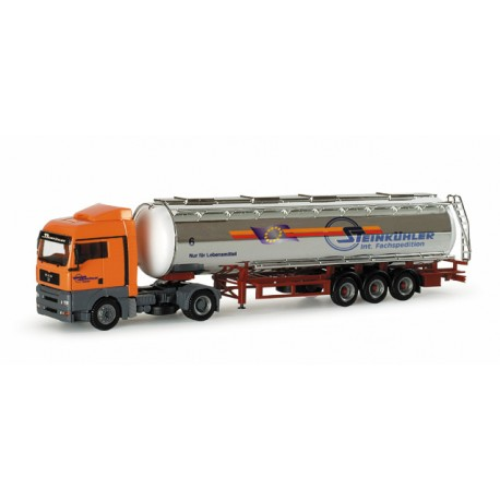 "* Herpa Trucks 153744  MAN TGA XLX chromium plated tank semitrailer ""Steinkühler"""