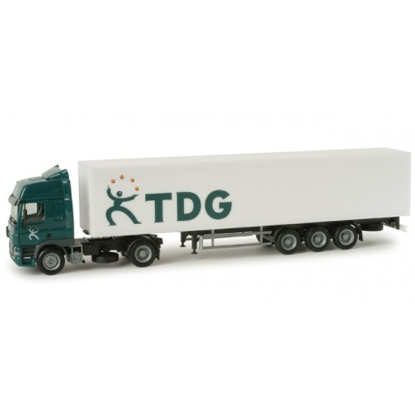 "* Herpa Trucks 294720  DAF CF box semitrailer ""TDG"" (Holland)"