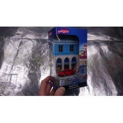 * Herpa City 800037 bank Building with Audi R8 die-cast model