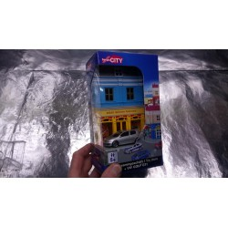 * Herpa City  800020 Toy store with VW Golf GTI die-cast model