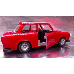 * Welly - Trabant Red with opening front doors Scale 1:34