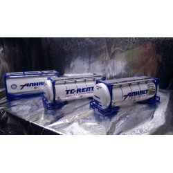 * Herpa Accessories 076500-004  Set of Three Tank Containers - ANHALT / TC-RENT