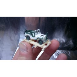 * EuroAgent Military 000632WL USA Willys Jeep 1/4 Ton 4 x 4 MP loaded on wooden frame