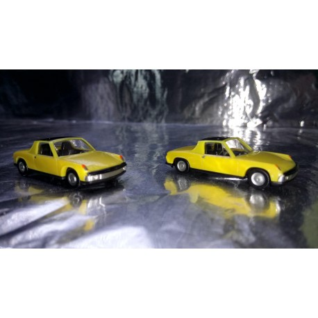 * Herpa 451611Y VW Porsche 914 yellow 2 Car Pack 1:87 HO Scale