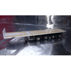 * Herpa 076203-006 Teletrailer 4 Axle Unprinted White Scale 1:87