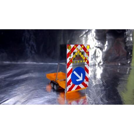 * Herpa Trucks 052368-002 Road Safety traffic Trailer, communal orange