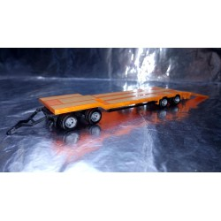 * Herpa 076142-006 Goldhofer TU 4 Construction Site Trailer, Light Red Orange