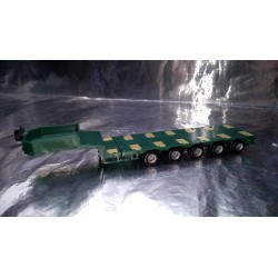 * Herpa 076388-007 Goldhofer Low Boy Trailer 5-Axle With Enclosed Chutes Green
